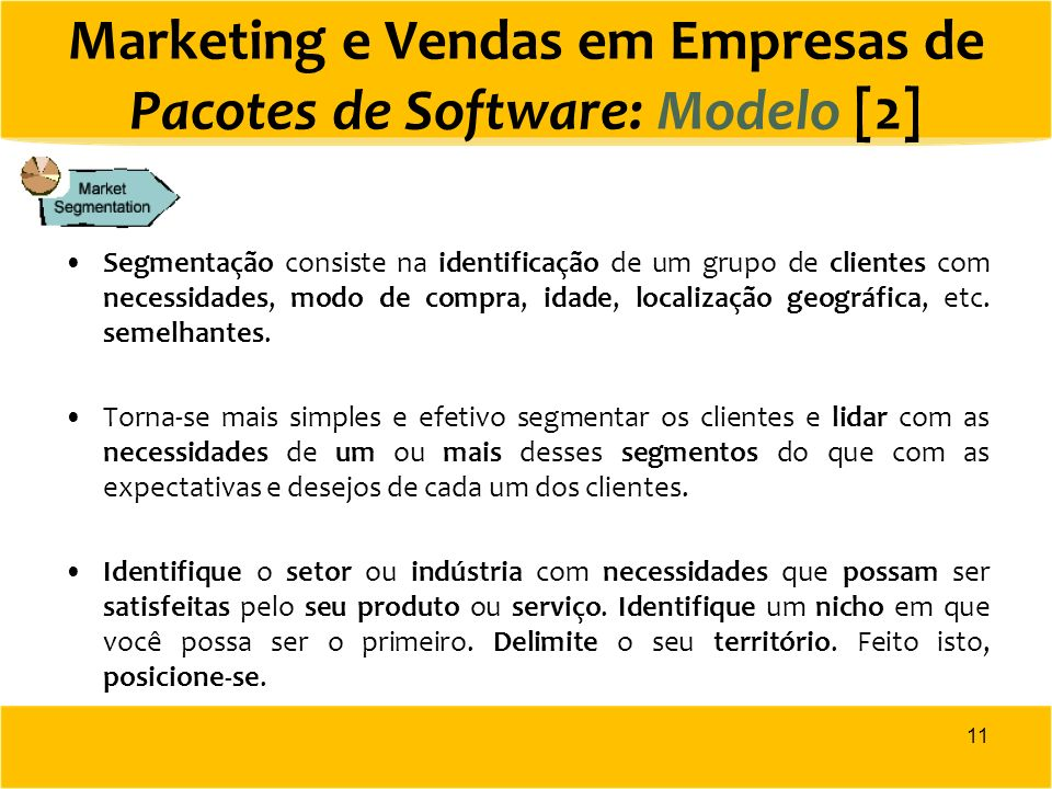 Marketing e Vendas em Empresas de Pacotes de Software: Modelo [2]